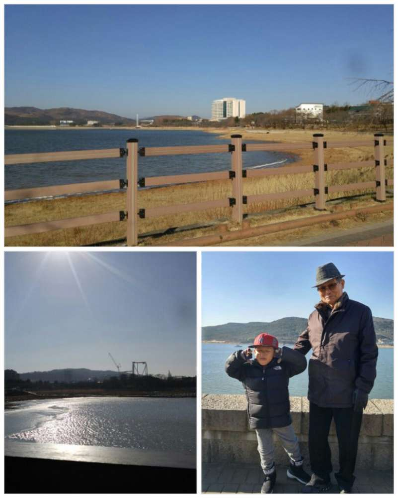 2018년 새해 아침 산책길~ 잔잔한 보문호수 위에 반짝이는 햇살, 오래오래 기억날 참 예쁜 아침~