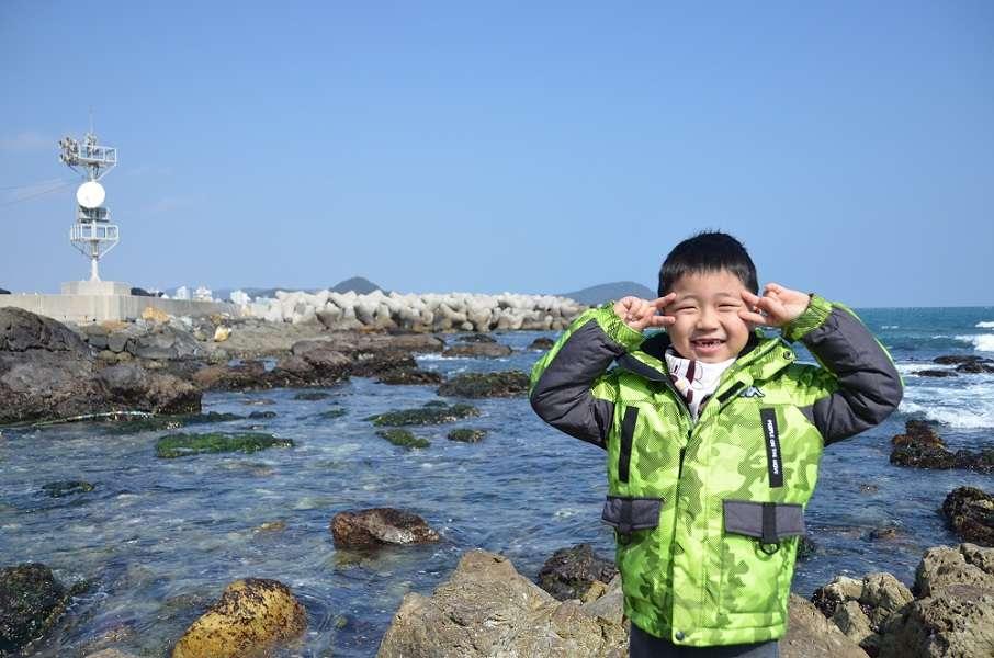 바닷바람이 너무 좋은 우리 큰아들