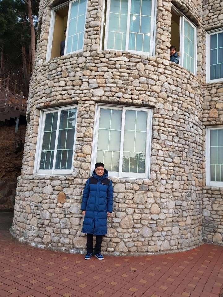 화진포의 성이라고 불리우는 김일성 별장에서 찍은 사진