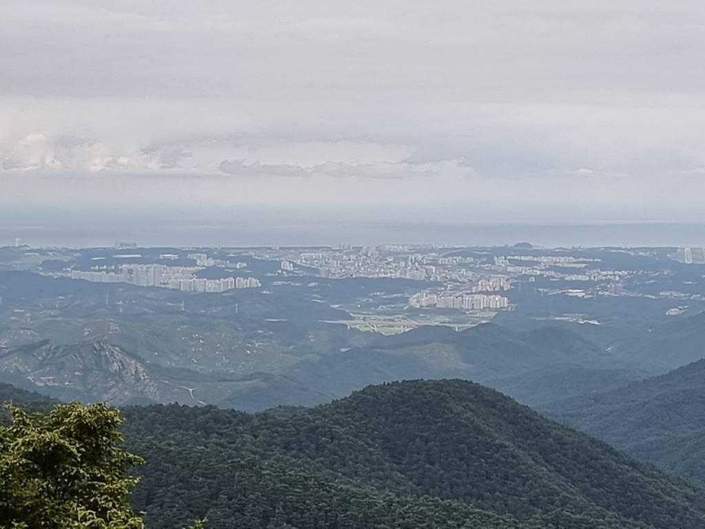 대관령에서 내려다 보이는 강릉